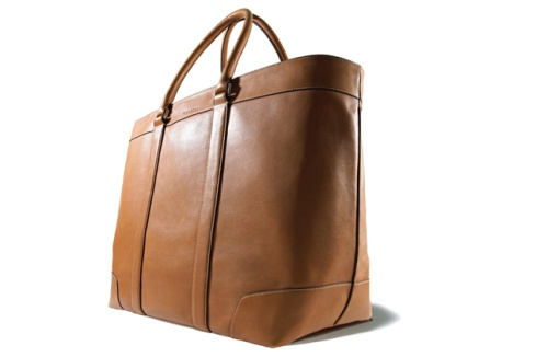 BLEECKER LEGACY WEEKEND TOTE IN LEATHER