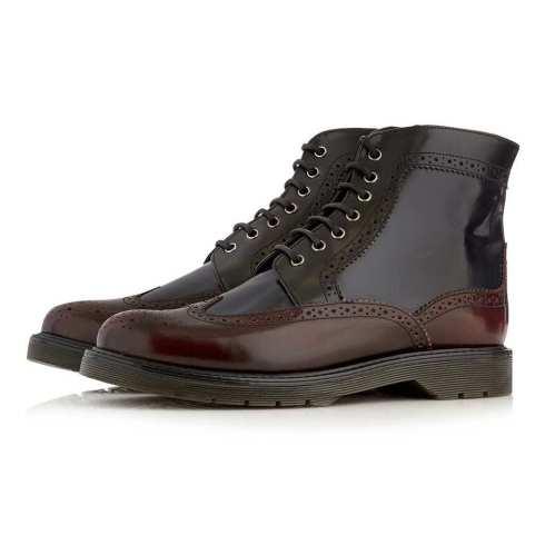 Tri Color Brogue Boots