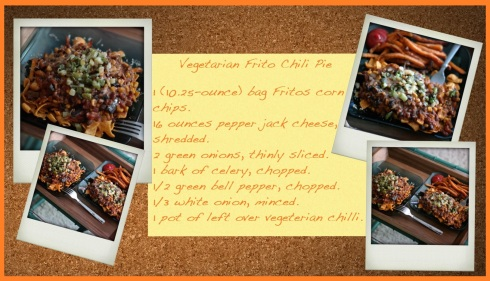 vegetarian frito chili pie