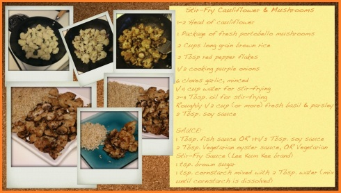 Stir-Fry Cauliflower & Mushrooms