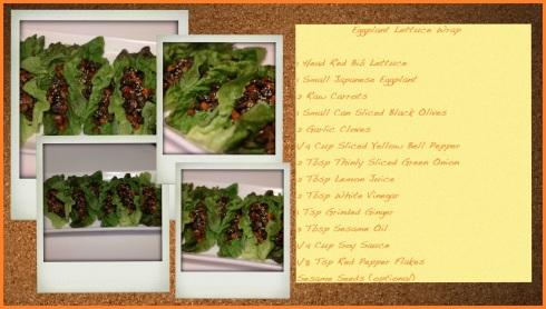 Eggplant Lettuce Wrap